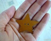 CLEARANCE Rusty Star Buttons - 45mm - Pack of 4
