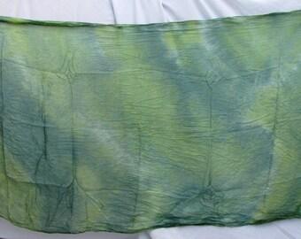 Silk Veil Green Blue Tiedye Bellydance