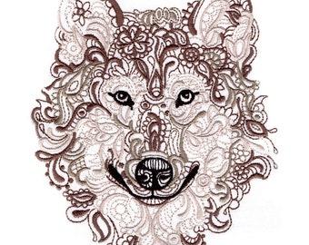 WOLF - Machine Embroidered Quilt Blocks (AzEB)