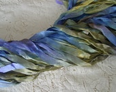 NeW - Hand Dyed half inch wide ribbon - PIXIE, 5 yards