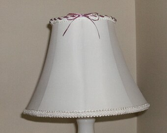 White and Pink Lampshade