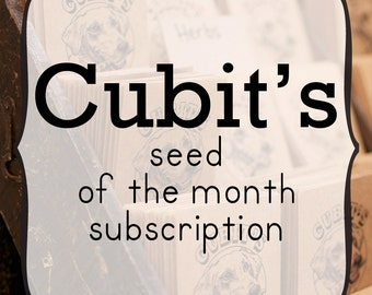 Seed of the Month Club Subscription - Great Present for Organic Gardeners and Foodies