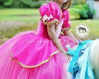 Aurora costume, princess custom costume 18 month Aurora full length tutu