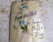 1904 Michigan State Fair, New York Mother of Pearl Souvenir