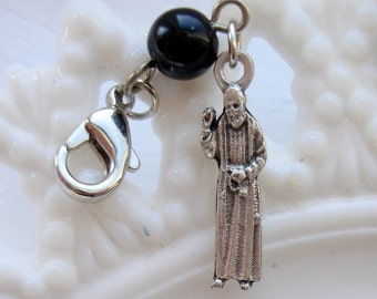 St. Padre Pio Clip/Rosary Place Marker (Style 2)