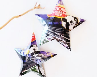 National Bohemian Beer Star Ornaments Beer Can Upcycled