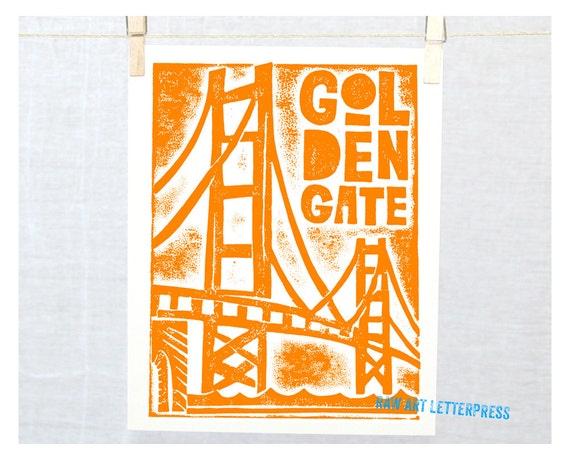 San Francisco, Golden Gate Bridge, Travel Poster, Wall Art, Home Decor, Retro Travel Poster, Silhouette, Kitchen Art,