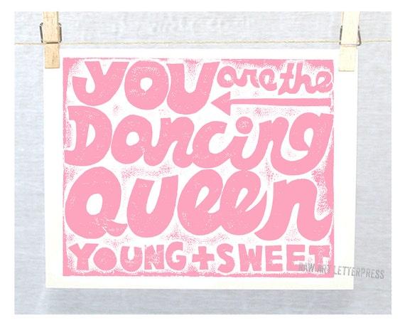 Girl's Wall Art, Teen Room Decor, Dancing Queen, Dance Quote, Ballet Theme Room, Girls Art, Disco