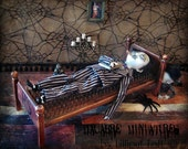 Miniature Bed of Nails Macabre Miniatures Goth Creepy Uncle Fester 1/6th scale