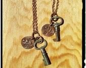 221B Skeleton Key Necklace
