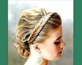 special request for  Jessica Stewart  fishtail herringbone hair braided headband