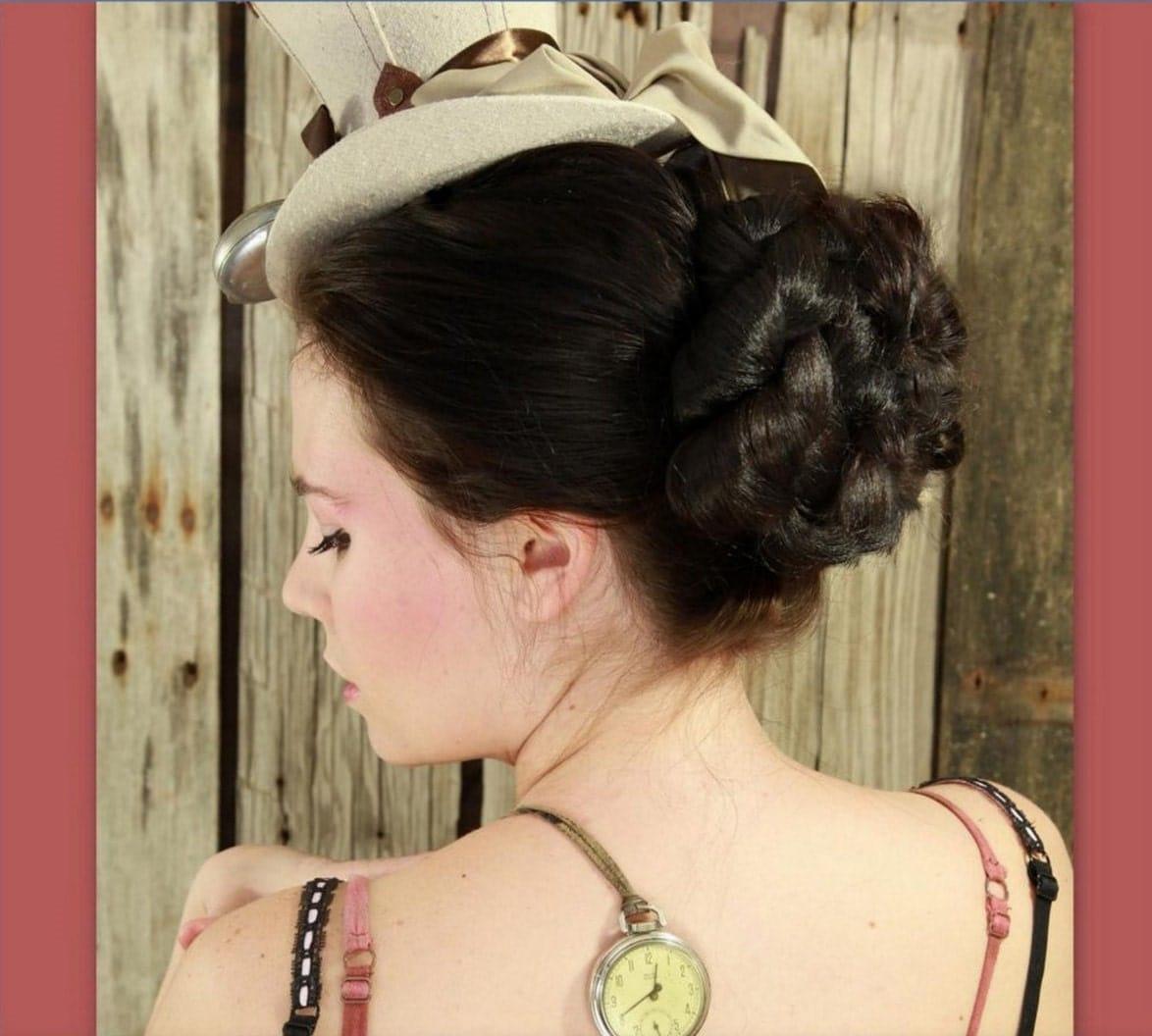 Everyday Victorian Hairstyles Bridal Wedding Accessory Hair Piece Hairpiece Formal Bun