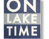 On Lake Time Multi color 18 x 22