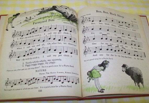 CLEARANCE - Vintage California music book, 1950, music, singing