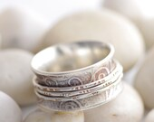 Romantic Silver Spinner Ring