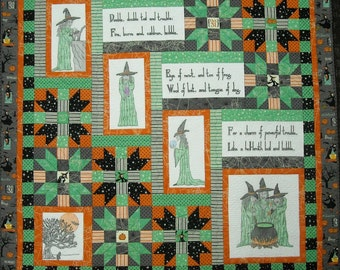 The Three Witches Halloween Quilt Pattern, Print version