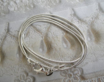 Beautiful 925 Sterling Silver 18 Inch Snake Chain-Wear Alone, With Your Pendant, or As An Upgrade To One Of My Pendants-Durable,High Quality