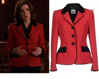 jacket with contrast collar custom made to your measurements