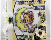 Happy New Year - OOAK Handmade Greeting Card - Whimsy Stamps