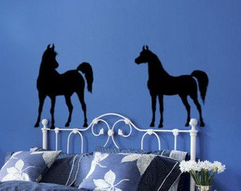 Horse decal western wall decal mustang teen girl vinyl wall decor dorm room decal pony mare filly-28 X 60 inches