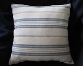 Woven Striped Decorator Fabric Pillow Handmade