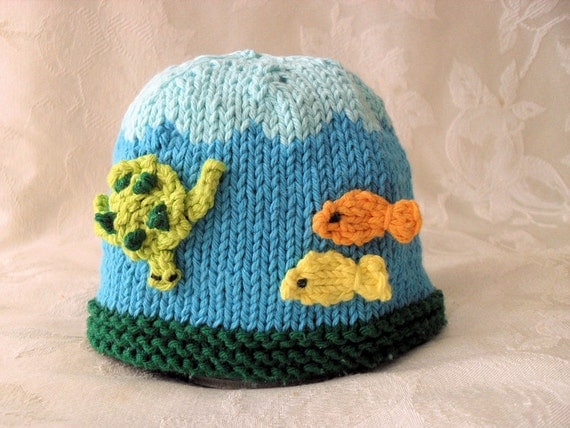 Knitted Hat Pattern Baby Hat Pattern Instant Download Pattern Hand Knit Baby ...