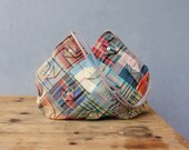 Folded Plaid Bag - Vintage Plaid Fabrics Patchwork
