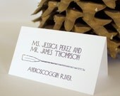 Lake Cabin Place Card Escort Woodsy Wedding Decor Handmade Camping Placecard Forest Oar