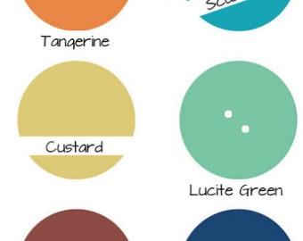Skinny Headband -  Pantone Spring 2015 - Strawberry, Aquamarine, Tangerine, Scuba, Custard, Lucite, Marsala, Blue, Gray, or Toasted Almond