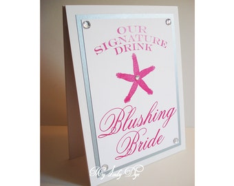 Starfish Signature Drink Sign Guest Book Sign Candy Bar Sign - The Larissa Collection - By My Lady Dye