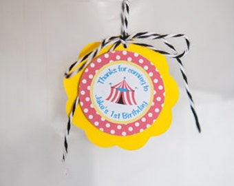 Circus Birthday Party FAVOR TAGS - Carnival Happy Birthday Party Decorations - Carnival Decorations - Circus Decorations - Circus Party (12)