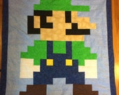 Lil Geek LUIGI Crib Quilt, Modern Colors