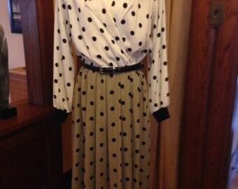 Vintage Leslie Fay Day Dress Extra Large