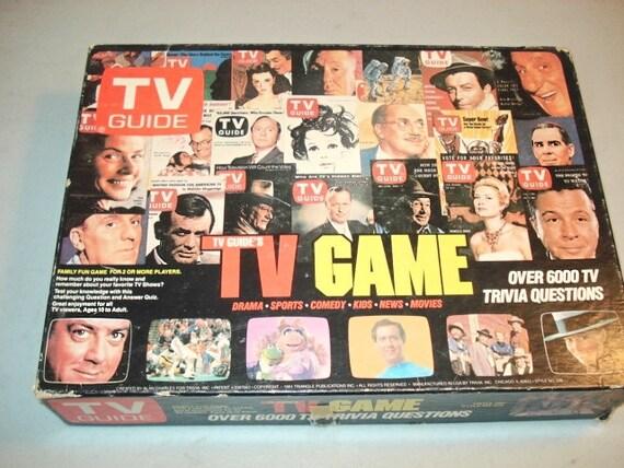 tv guide board game vintage 1980 board game tv game board. Black Bedroom Furniture Sets. Home Design Ideas