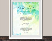 Fred Rogers Quote It's You I Like Quote Art Print