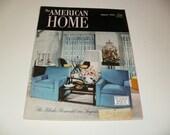 Vintage The American Home Magazine August 1953 - Retro Art Scrapbooking Paper Ephemera Homemaking