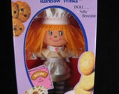 vintage 1981 the cooky box doll -- rainbow winks by gata.  new in original box.
