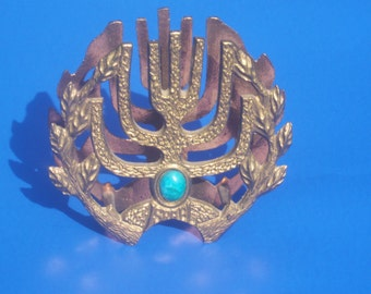 Brass Jewish Israel Decorative Letter / Napkin Holder