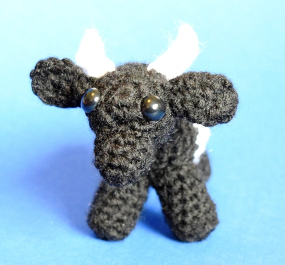 Micro Amigurumi Animal Patterns : PDF Crochet Amigurumi Animal Pattern: Miniature Cow ...