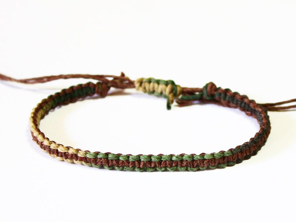 camo hemp bracelet camo jewelry army by livelovehemp