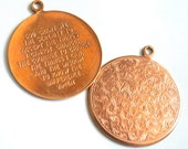 2 Vintage Serenity Prayer Pendants in Copper and Gold // NOS 1960s Jewelry