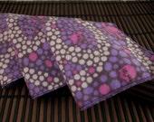 Medium Flankie - Purple Peace and Skulls Flannel Handkerchiefs - Set of 3
