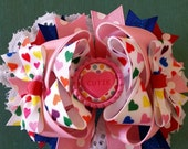 Valentine Conversation Heart Stacked Boutique Bow
