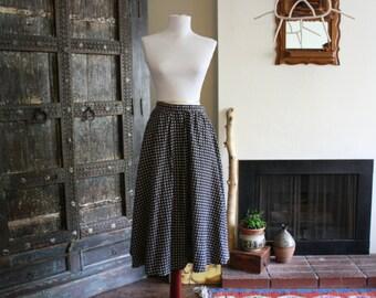 vintage floral / calico skirt