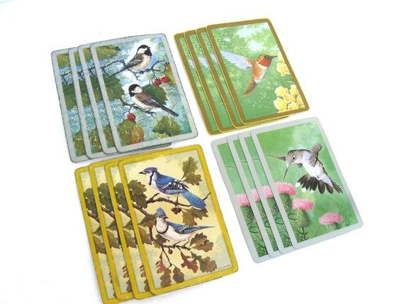 ORNITHOLOGICAL Cards, VINTAGE Birds (16pcs.) Bird Art , Bird Ephemera, Bird Trading Cards, Paper Epemera, Swap Cards