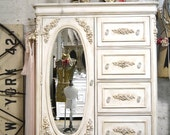 Painted Cottage Chic Shabby Romantic French  Dresser LGCH20