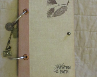 "Vintage Inspired Travel Journal-- ""off the beaten path""  Upcycled, 64 Pages"
