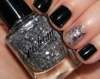 Silver Flake Glitter Nail Polish NO TWO ALIKE