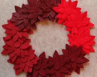 Wild Berries - Poinsettias - 36 Die Cut Felt Flowers