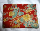 Special Order Two Zipper Bag in Red Floral for Deidra